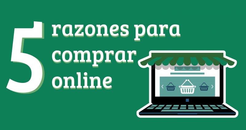 5 razones para comprar online